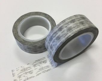 Washi Tape - 15mm - Black Sketchy Design on white - Deco Paper Tape No. 368