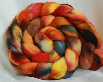 RESERVED super fine merino hand dyed combed top  (4.8 oz/ 140 Grams)
