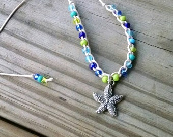 Starfish Choker or Necklace Adjustable Length Custom options available