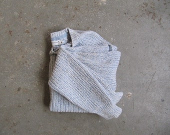 1980s vintage cropped cotton tommy hilfiger rib sweater