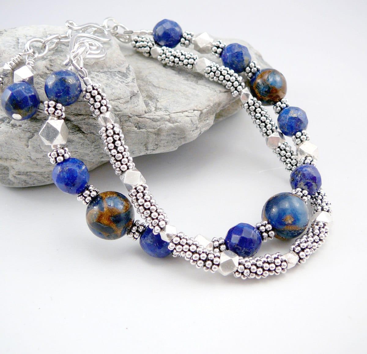 lapis lazuli bracelet lapis lazuli jewelry trendy bracelet. Black Bedroom Furniture Sets. Home Design Ideas
