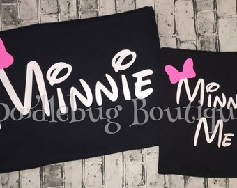 Mom and Daughter Minnie Me shirt set