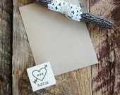 Heart and Arrow Custom Initials Stamp