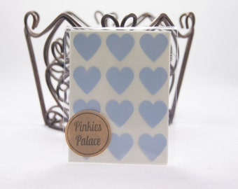 36 Baby Blue Heart Stickers 3/4 Inch Stickers Envelope Seals Packaging Stickers
