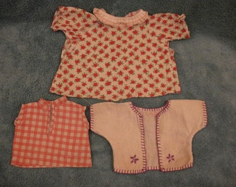 1930's Doll Clothes Three Cute Tops Now on SALE