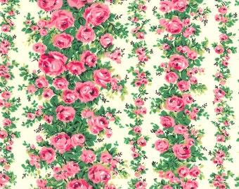 "Swiss Dot Rose Garden Cotton Fabric, Gertie by Gretchen Hirsch Fabric, 48"" wide, 1 yard"