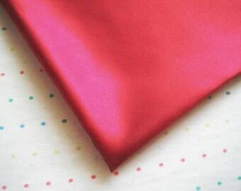 "Burgundy Satin Lining Fabric, 60"" Wide, BTY"