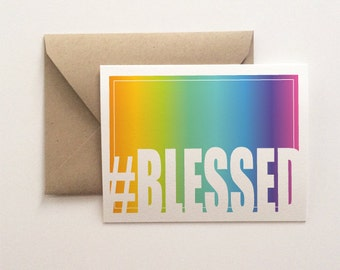 Blank Card - #Blessed