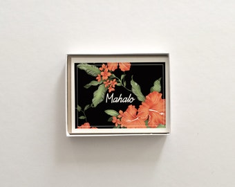 Mahalo Thank You Boxed Set of 8 Cards