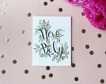 New Baby - Gift - Greeting card - Note card - Florals - Foliage - Toronto