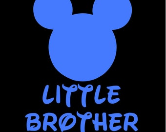 Mickey Mouse Little Brother SVG JPEG instant digital file download for vinyl cutters