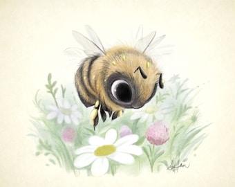 Little Worker Bee 8x8 print