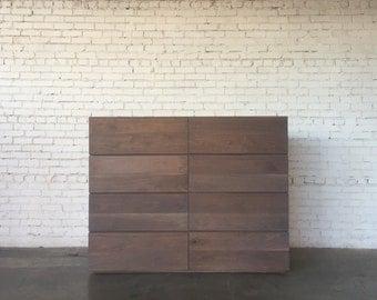 Gray Walnut Vertical Dresser
