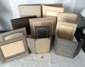 Vintage Cardboard Folding Photo Frames...Lot of 11...Wedding Table Number Holders...Keepsake Photos...Lot #2