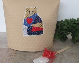 Country Calico Cat Quilted Kitchen Mixer Cover Ready To Ship Next Business Day