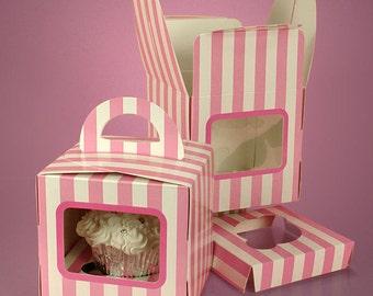 Pink and White Single Cupcake Box - 24 ct.