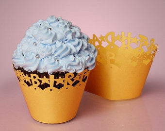 Happy Birthday Cupcake Wrap- 24ct