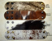 "NEW SIZE 2"" x 9"" Cowhide Leather Supply Large Cuffs Leather Cuffs - Adjustable Snaps -Pick Your Cuff Colors - Pick Your Snaps"