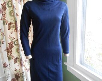 Classic 60's Royal Blue Wiggle Dress - Size S-M