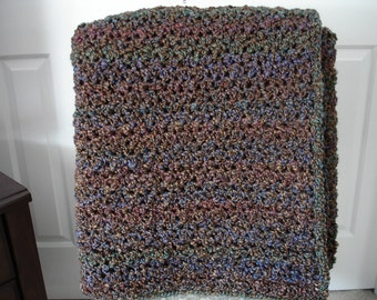Brown/Multicolor Afghan Throw Blanket
