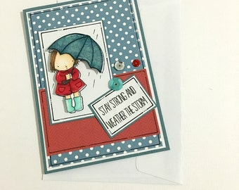 Get Well Soon Card - Encouragement Card - Stay Strong & Weather the Storm