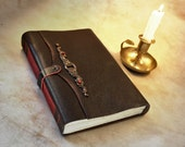large leather journal, vintage style paper, brown leather cover notebook, A Story to Remember