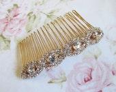 Rose Gold Bridal Hair Comb,Rhinestone Wedding Hair Comb,Bridal Hair Accessories,Wedding Accessories,Decorative Hair Comb,#C36