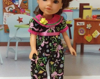 """Hearts 4 Hearts """"Ribbons and Bows""""  Playsuit fits H4H doll and LIttle Darling"""