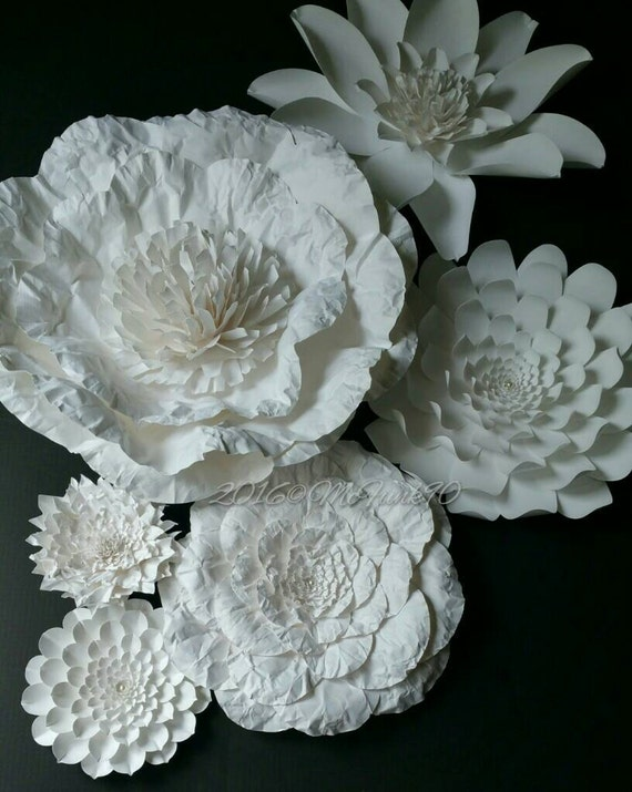 wedding paper flowers weddings large paper flowers in the colors of your choice 9840