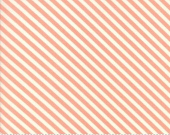 Handmade Floral Candy Stripe Coral