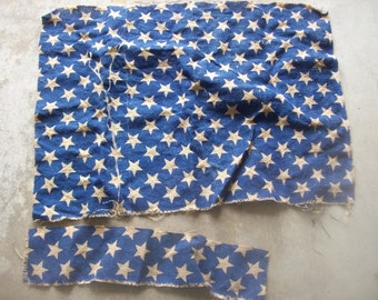 Stars and Stripes Red White and Blue Burlap Fabric for Crafting