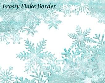 Snowflake Border Clipart Falling Snowflake Clipart Winter