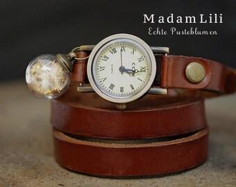 Rolling Watch  True Leather True Dandelion