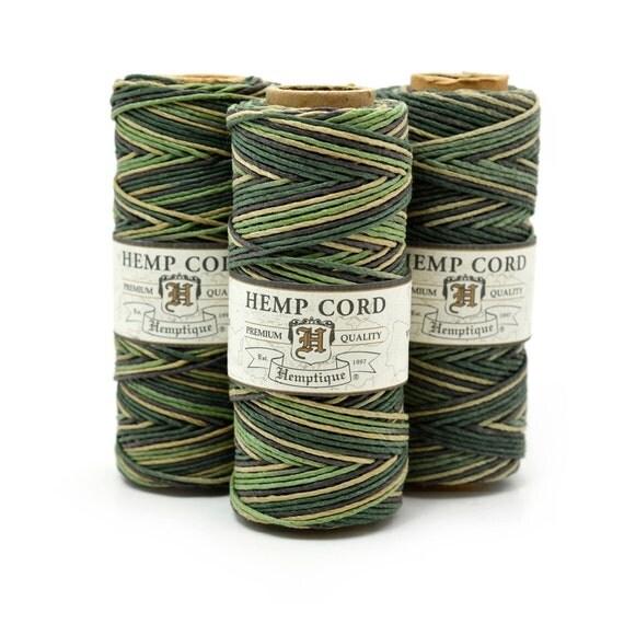 Hemp Twine  1mm, 205 Feet, Dyed Hemp Cord,  Hemp String,   Hemptique   -T42