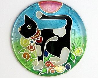 Cloisonne enamel - Dairy Cat