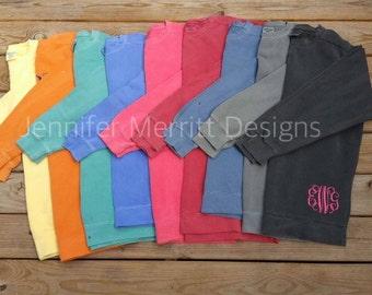 Monogram Sweatshirt, Comfort Colors, Sweatshirt, Monogrammed Comfort Colors Sweatshirt, Monogrammed Sweatshirt
