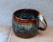 Coffee mug tea cup hand thrown in stoneware pottery ceramic