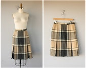 1950s Skirt | 50s Skirt | Vintage 1950s Wool Skirt | Vintage Plaid Skirt | Vintage Tweed Skirt