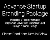 ON SALE - Etsy Shop Cover - Etsy Photo Covers - Advance Startup Branding Package With Business Card Design and Choice of Label Design Bundle
