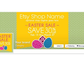 Timeline Cover & Profile Picture - Easter Facebook Timeline Cover - Social Media Cover - Easter Sale 3