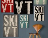 SKI (ANYPLACE) Custom Text Canvas   Ready-to-Hang Sign Wall Art - Request Any Color