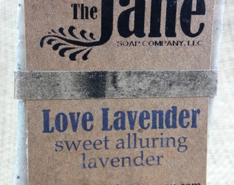 Small Love Lavender Soap - Old Fashioned Handmade Soap - Vegan