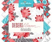 "Desert Bloom 42 10"" Stacker Squares precuts Layer Cake  by Riley Blake 100% cotton fabric for quilting"