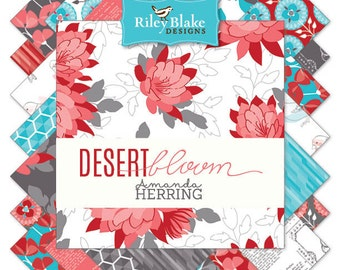 """Desert Bloom 42 10"""" Stacker Squares precuts Layer Cake  by Riley Blake 100% cotton fabric for quilting"""