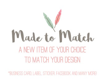 New Made-To-Match Image for any Etsy Premade Design from Simply Creative - Custom Items such as Business Card, Sticker, Label and more