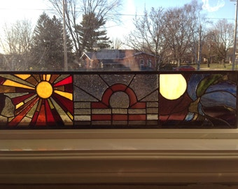 Libra Stained Glass Panel