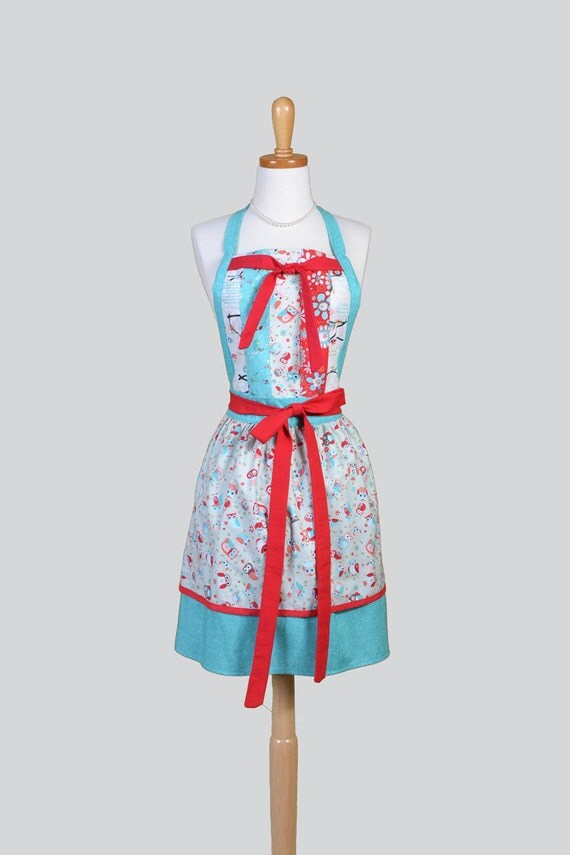 Full Womens Aprons Vintage Kitchen Cooking Womans Apron in