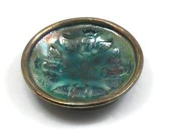 Raku Scarab  Blessing Bowl