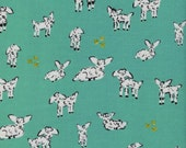 Cotton + Steel - Clover Collection - Little Lambs in Turquoise