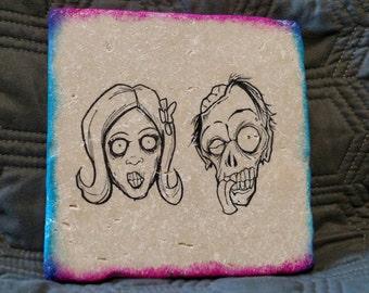 Zombie Couple Trivet